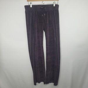 Nike Purple Velour Drawstring Track Pants